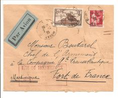 Fête Du Tricentenaire France-Antilles 1935 Lt.vaisseau Paris. - Luftpost