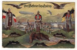 Nr.+  484, WK I, Feldpost, Kaiser Wilhelm, Kaiser Franz Josef, Hindenburg, Befreier Des Ostens - Guerra 1914-18