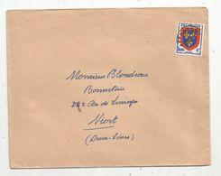 Lettre , Affranchissements Postes , Anjou 4f - 1953-1960