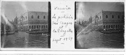 PP 138 - ITALIE - VENISE -  Le Palais Des Doges Et La Piazzetta Sept 1929 - Glass Slides