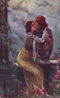 Innamorati, Il Congedo è Vicino In Corrispondenza  1919, Illustratore Gatti - Guerra 1914-18