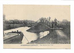 BELGIQUE - ROUSBRUGGE-HARINGHE - Vue Générale Sur L' Yser. Péniches - Belgique