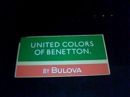 Autocolant Publicitaire Benetton Par Bulova  Vetements - Stickers