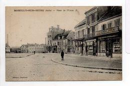 - CPA ROMILLY-SUR-SEINE (10) - Place De L'Union (EPICERIE CONFISERIE - HORLOGERIE BIJOUTERIE) - - Romilly-sur-Seine