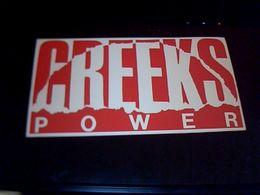 Autocolant Publicitaire Creeks Power Vetements - Stickers