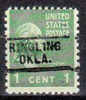 USA Precancel Vorausentwertung Preo, Locals Oklahoma, Ringlin 729 - Préoblitérés