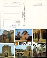 559011,Mehrbild Ak Spain Besalu Girona Comtal Vila - Spanien
