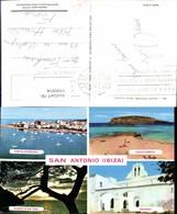 559004,Mehrbild Ak Spain Ibiza San Antonio Cala Conta Iglesia Puesta De Sol - Spanien
