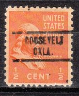 USA Precancel Vorausentwertung Preo, Locals Oklahoma, Roosevelt 734 - Préoblitérés