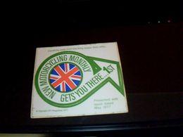Autocolant Publicitaire De 1972 New Motorcycling Monthly - Stickers