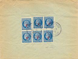 6 TIMBRES CÉRÈS YT 678 Surchargé 1 F. Rouge Sur  1 F. 30  Bleu YT 678 - TàD MONTBARD COTE-D'OR Du 30-3-1949 - Poststempel (Briefe)