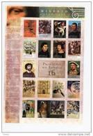 Angola-2000-célébrités-Peinture-J Bosch-Raphael-Copernic-Luther-Henri  VIII-Durer-....feuillet** 1431/7** *MNH - Angola