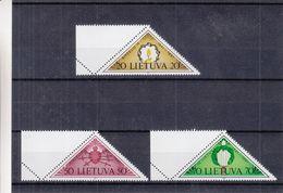 Lituanie - Yvert 410 / 12 ** - MNH -épée - Bougie - Coeur - Lithuania