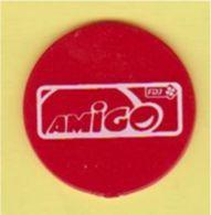 """Jeton Française Des Jeux FDJ """" AMIGO """" Diamètre 31mm (Trèfle à 4 Feuilles)_j569 - Trolley Token/Shopping Trolley Chip"""