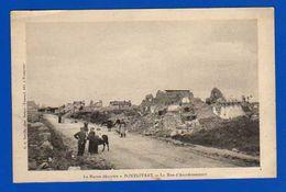 Pontgivart . La Marne Dévastée . La Rue D' Auménancourt . Plusieurs Plis - Autres Communes