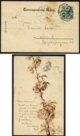 A5259) Austria Österreich 2.5.1902 Handgezeichnete Karte (Federzeichnung) Blüten - 1850-1918 Imperium