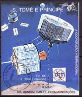 "2017-0275 Sao Tomé 1989 Satellite ""early Bird"" (Intelsat) MS Mi 221 Used O - Space"