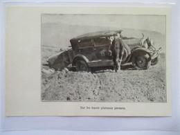 1928 -  Raid Tranin Duverne  Auto 10 CV Rolland-Pilain - Escale Perse IRAN - Ancienne Coupure De Presse (Encart Photo) - Documents Historiques