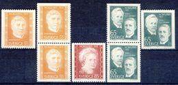 +B1353. Sweden 1971. Nobel Pricewinners 1911. Michel 734-36 + 2 Pairs. MNH(**) - Suède
