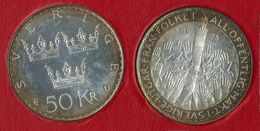 1975 SVEZIA - Riforma Della Costituzione - 50 Kr - FDC - Argento / Silver / Argent - Blister Apribile - Svezia
