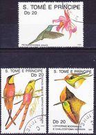 2017-0280 Sao Tomé 1989 Kolibris Mi 112-114 Used O - Hummingbirds