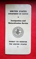 USA 1981 Re-entry Permit / Passport / Passeport / Reisepass RARE!!! - Vieux Papiers