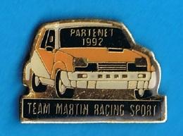 PIN'S //  ** RENAULT 5 ** PARTENET ** 1992 ** TEAM MARTIN RACING SPORT ** - Renault