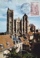 Carte-Maximum FRANCE N° Yvert 1453 (Cathédrale De BOURGES) Obl Sp 1er Jour (Ed La Cigogne 3302) - Maximumkarten