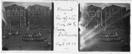 PP 142 - ITALIE - VENISE -  Les Régates Vues De La Casa Pétrarca  Sept 1929 - Glass Slides