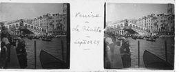 PP 144 - ITALIE - VENISE -  Le Rialto Régates Sept 1929 - Glass Slides