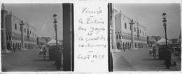 PP 145 - ITALIE - VENISE -  Le Palais Des Doges Et Le Quai Des Esclavons  Sept 1929 - Glass Slides