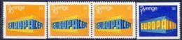 +Sweden 1969. EUROPA. Michel 634-35 +  Pair. MNH(**) - Nuevos