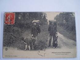 Douane - Frontiere - Grenze // Depart Pour Embuscade - Franco - Belge (chien) // 1913 - Douane