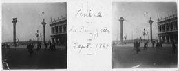 PP 151 - ITALIE - VENISE - La Piazzetta Sept 1929 - Glass Slides