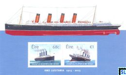 Ireland Stamps 2017, RMS Lusitania, Ship, MS - Ireland