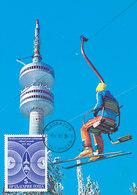 D33069 CARTE MAXIMUM CARD 1983 BULGARIA - COMMUNICATION TELEVISION TOWER CP ORIGINAL - Telecom
