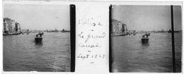 PP 157 - ITALIE - VENISE - Le Grand Canal Sept 1929 - Plaques De Verre