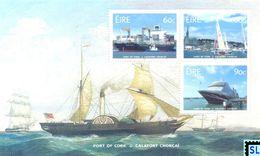 Ireland Stamps 2017, Port Of Cork, Ship, MS - Ireland
