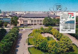 D33074 CARTE MAXIMUM CARD 1976 ITALY - SPORTS PALACE MILANO CP ORIGINAL - Stamps