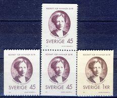 +Sweden 1971. Hesselgren. Michel 702-703 + Pair. MNH(**) - Suède