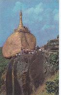 Burma - Pilgrimages Gilting The Famous Kyaikhtiyoe Pagoda 1966 - Myanmar (Burma)