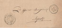 Taranto. 1885.  Annullo Grande Cerchio + Annullo UFFICIO REGISTRO, Su Franchigia Con Testo - 1878-00 Humberto I