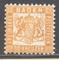 Baden 22b Ungebraucht Mit Originalgummierung - Baden