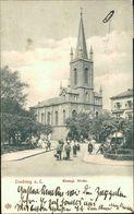 AK Limburg, Evangl. Kirche, O 1913, Fleckig (29652) - Limburg