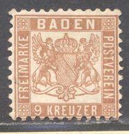 Baden 20a Ungebraucht Mit Originalgummierung Gepr. Flemming BPP - Baden