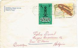 Lettre De La Havane (Cuba) Vers La Belgique De 1968 - Cuba