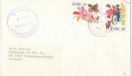 Ireland Cover Sent To Denmark 4-2-1987 Topic Stamps - 1949-... Republic Of Ireland