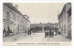 Neauphle Le Chateau  -  La Rue Saint Martin Et La Place Mancest  -  Hôtel Saint Nicolas - Neauphle Le Chateau