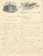 Canada - Montréal. Entête 1893 -  The Windsor Hôtel.G.W.Swett.Manager. - Montréal - Invoices & Commercial Documents