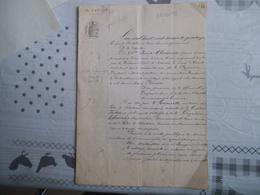 BEUGNIES NORD LE 8 OCTOBRE 1874 VENTE PUBLIQUE & AUX ENCHERES UNE MAISON LIEU-DIT LE VILLAGE A LA REQUÊTE DE Mme ALAVOIN - Manuscrits